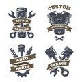 Set of auto logos, garage, service, spare parts. Royalty Free Stock Photo