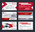 Set of Automotive Service business cards layout templates. Create your own business cards. Royalty Free Stock Photo