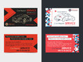 Set of Automotive Service business cards layout templates.