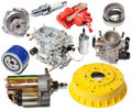 Set of automotive spare parts Royalty Free Stock Image
