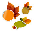 Set of  autumn discount tickets, labels... Stock Photo