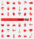 Set of autumn stickers Royalty Free Stock Photo