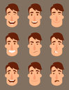 Set of avatars. Male characters.