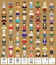 Set of avatars man