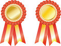 Set  award ribbons Stock Images