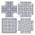 Set aztec ornaments Stock Photo