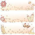 Set of baby banners can be used for wallpaper website background Royalty Free Stock Image