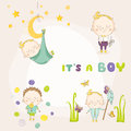 Set of Baby Boy - for Baby Shower or Arrival Card