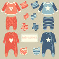 Set of baby clothes Royalty Free Stock Photo