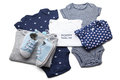 Set of baby clothes on white background Royalty Free Stock Image