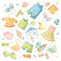 Set of baby clothing Royalty Free Stock Image