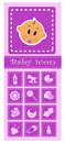 Set of baby elements - pink Royalty Free Stock Image