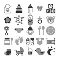 Set of baby icons for design Royalty Free Stock Image