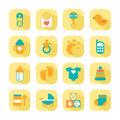 Set of baby icons for design Stock Image