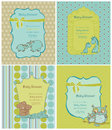 Set of Baby Shower Cards Stock Photography