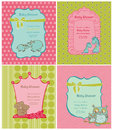 Set of Baby Shower Cards Royalty Free Stock Photography