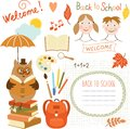 Set of back to school elements Royalty Free Stock Photo