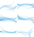 Set of backgrounds with abstract waves, vector Royalty Free Stock Photo