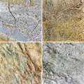Set of backgrounds of stone walls with cracks Stock Photography