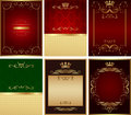 Set of  backgrounds vector Royalty Free Stock Images