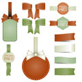 Set of badges labels Stamps Ribbon Vector