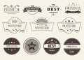 Set of badges and labels stickers on a light background Royalty Free Stock Photos