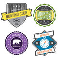 Set badges mountain expeditions and hunting emblem logo