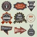Set Of Badges, Sale Gray Label...