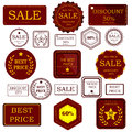 Set badges and stickers for sale or advertising Royalty Free Stock Photo