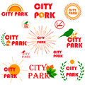 stock image of  Set of badges, stickers and signboards