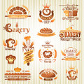 Set of bakery design elements labels badges and Royalty Free Stock Image