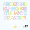 Set of ballon vector alphabet and numbers editable Royalty Free Stock Images