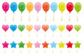 Set of balloons Royalty Free Stock Photos