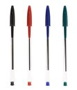 Set of ballpoint pens Royalty Free Stock Photo