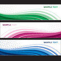 Set of banners abstract background eps Stock Photography