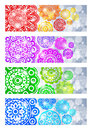 A set of banners with abstract flowers Royalty Free Stock Image