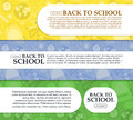Set of banners back to school with place for your text. Vector Royalty Free Stock Photo