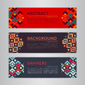 Set banners collection with abstract geometric backgrounds. Design templates for your projects. Royalty Free Stock Photo