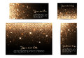 Set of banners of different sizes black background