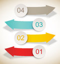 Set of banners infographic design Stock Images