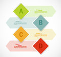 Set of banners infographic design Royalty Free Stock Photos