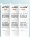 Set banners jerrycan gas pump white file eps format Stock Images