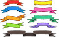 Set of banners a and ribbons Royalty Free Stock Images