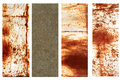 Set of banners with rusty metal texture collection Stock Image