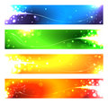 A set of banners for the seasons vector illustration Stock Image