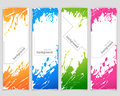 Set of banners with spray paint vector background Royalty Free Stock Image