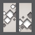 Set of banners with squares abstract illustration Stock Photography