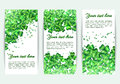 Set banners St. Patrick`s Day with glitter