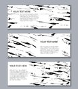 Set of banners templates. Modern abstract design. Hand drawn ink Royalty Free Stock Photo