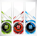 Set of banners with timers Royalty Free Stock Photos